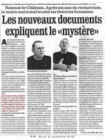 Article in La Depêche du Midi, mentioning the descendants of Saunière