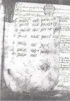 Mysterious writing by Antoine Bigou in the Rennes-le-Château parish register