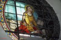 stained glass window of Mary-Magdalene in Puichéric by André Goudonnet