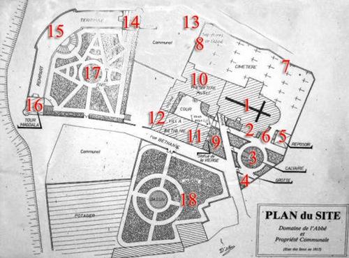 Map of Abbé Saunière's Domain in Rennes-le-Château