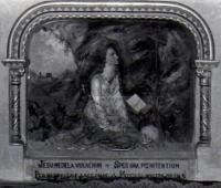 Altar in the early 1960s with the inscription still on it