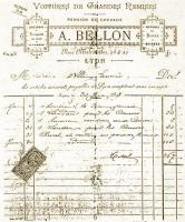 bill from A. Bellon to Saunière for the rent of a carriage