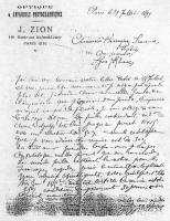 Letter of J. Loux, Optician in Paris