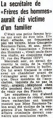 Article France-Soir, 31st August 1974