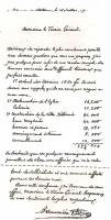 letter by Saunière explaining his spendings for the ecclesiastical court