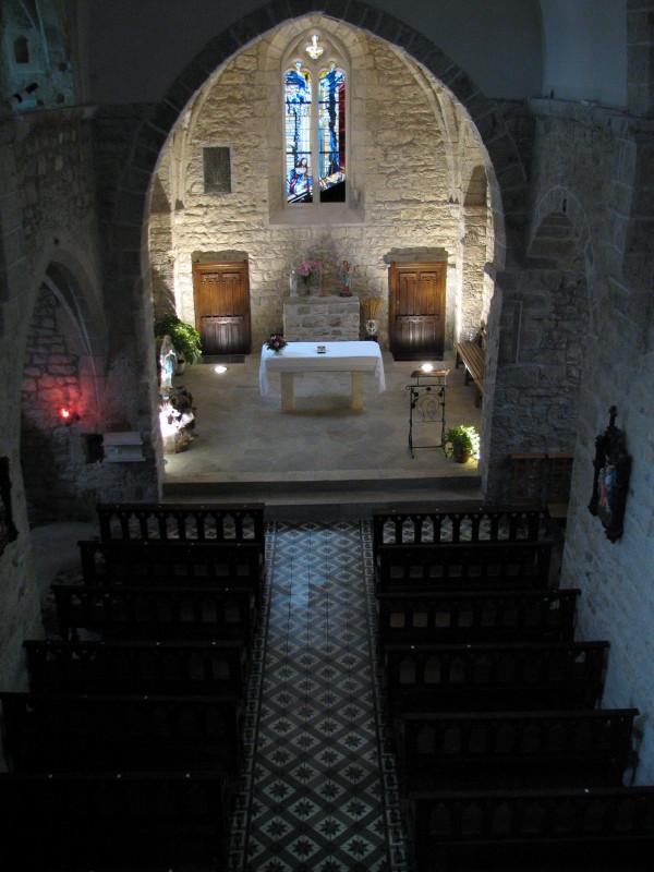 Church interior of St-Jean d'Alcas