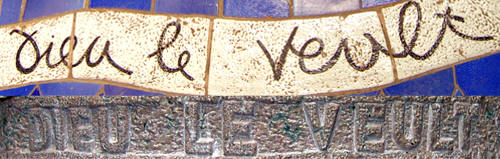 'Dieu le Veult', motto of the First Crusade in the Floor Mosaic and on the Altar