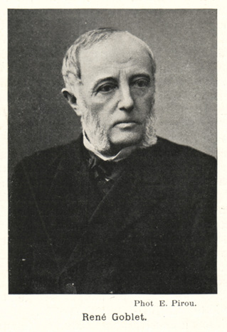 René Goblet, the French minister of education, fine arts and religion in 1885