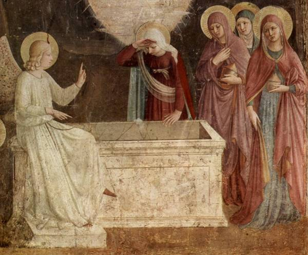 Empty Tomb Fresco by Fra Angelino (between 1437-1446, Museum San Marco, Florence)