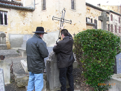 Restored tombstone of Jean Vié