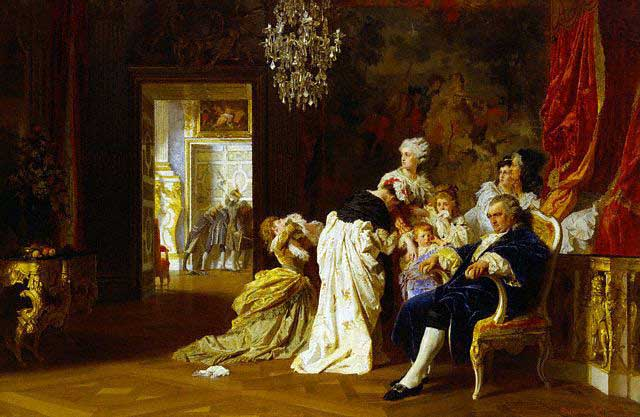 Louis XVI and Marie Antoinette with their Children at Versailles