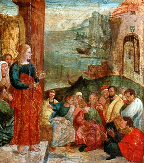 Marie Madeleine preaching to the fishermen in the harbour of Marseille, Musee Contes