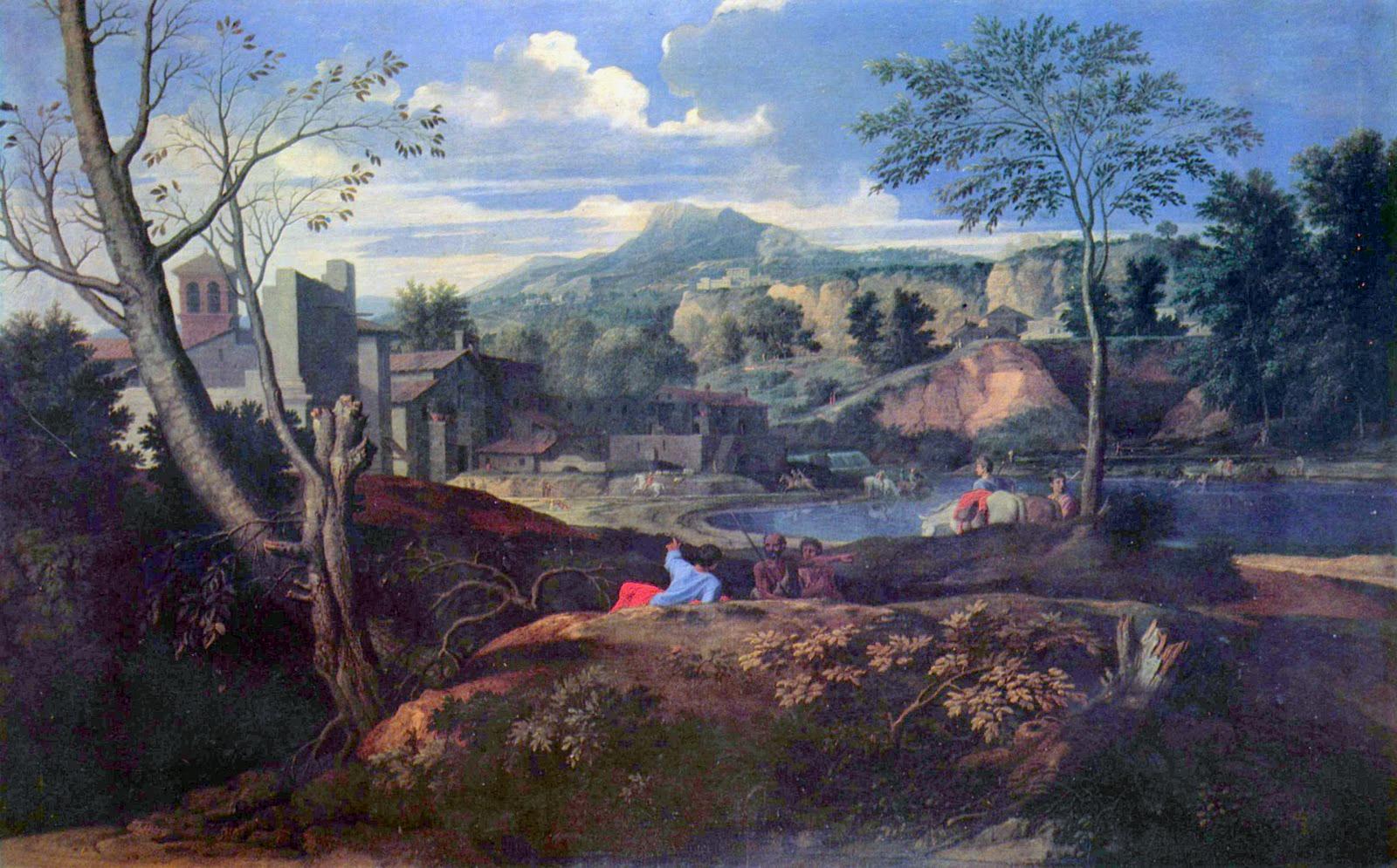 Ideal Landscape, Nicolas Poussin 1645-1650