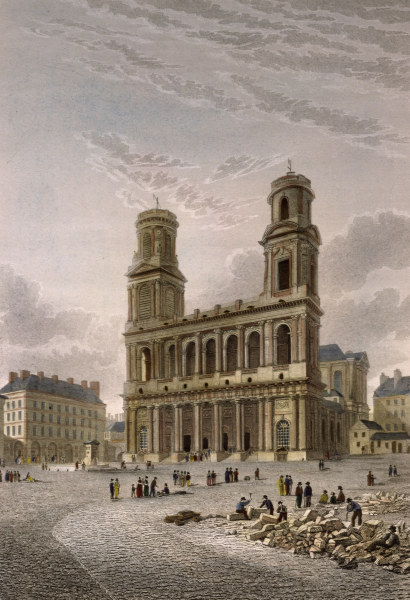 Paris, Saint-Sulpice Gravure de Edward Finden