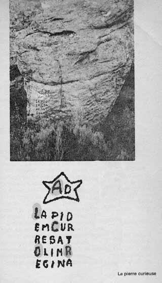La Pierre Curieuse, page from Jean-Luc Chaumeil's book Les Trésors du Triangle d'Or