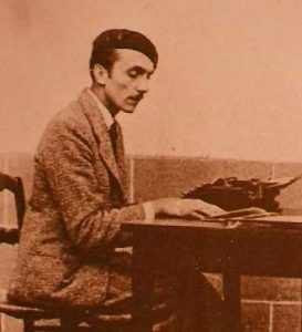 Otto Rahn, writing at his desk in 1934