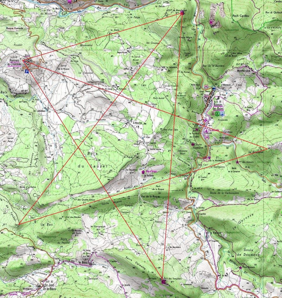 Rennes Le Chteau Is Part Of A Giant Perfect Pentagram In The