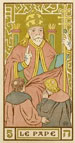 'Pape' Tarot card by Oswald Wirth