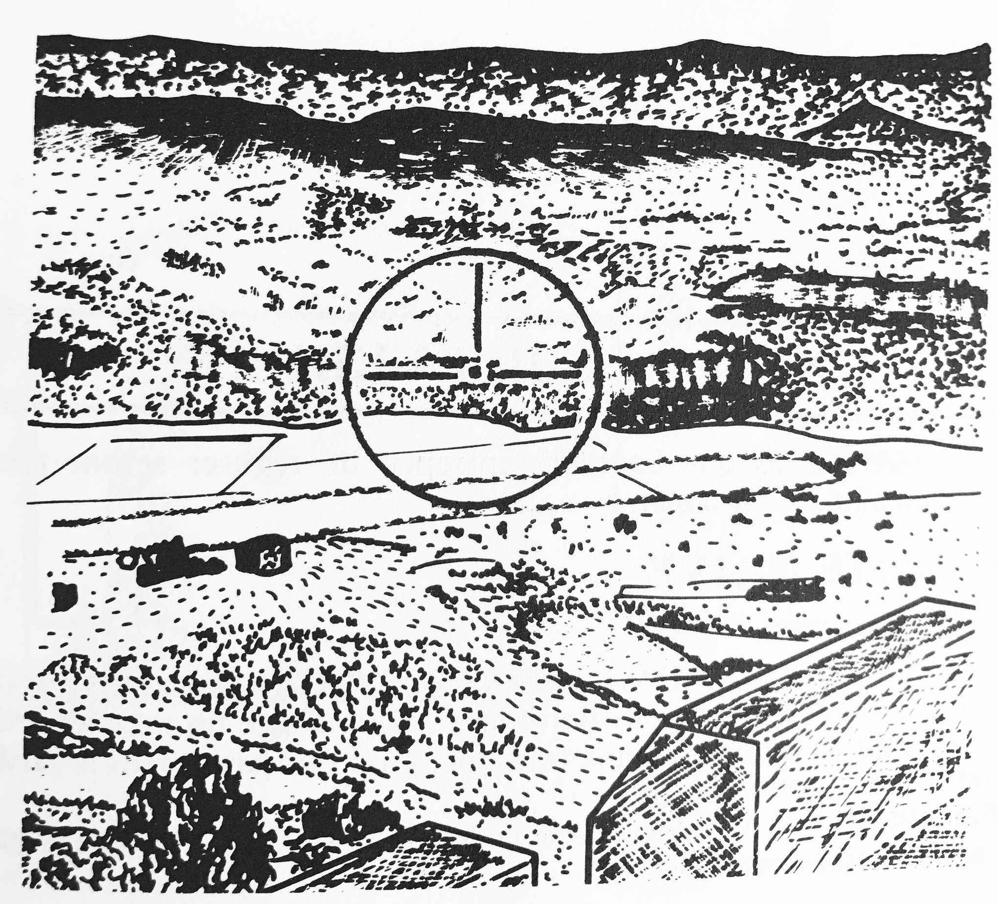 Tour Magdala, architectural drawings by Franck Marie (1978)