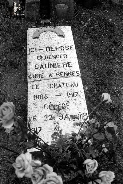 Original tomb stone of Bérenger Saunière