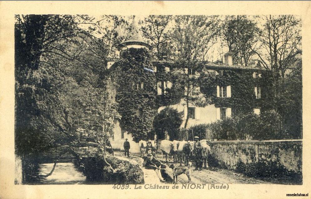 Old Postcard from Niort-de-Sault, birth place of Marie de Nègre d'Ables, Dame de Blanchefort