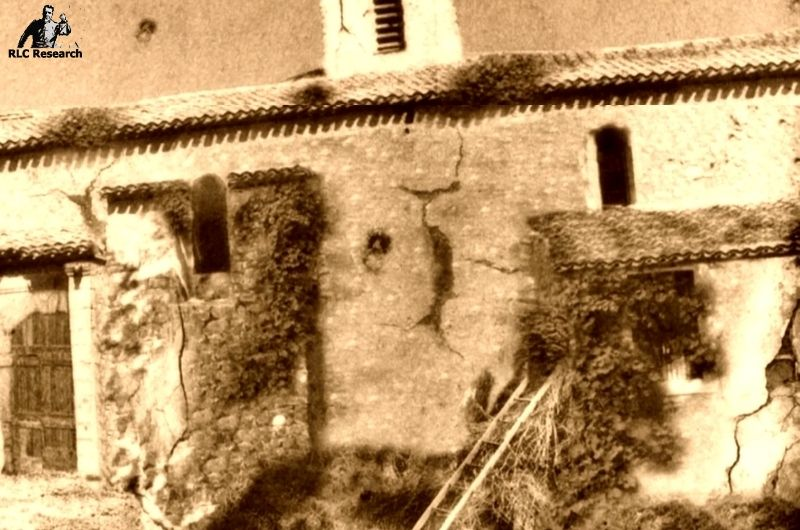 The church of Rennes-le-Château before Saunière started his renovations