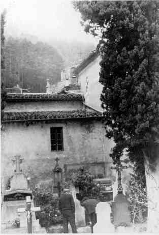 Cemetery of Rennes-les-Bains in the 1960's