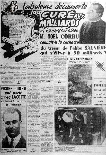 Newspaper article La Depeche du Midi 1956