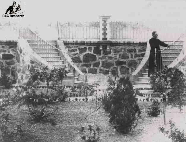 Bérenger Saunière on the steps to the belvédère