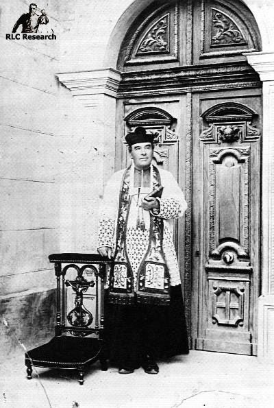 Bérenger Saunière during the inauguration of his renovated church