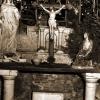 Calvaire, the original cross in Saunière's House Chapel ©André Galaup