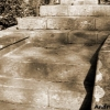 Calvaire, steps where the Knight's Stone lay until 1935 ©André Galaup