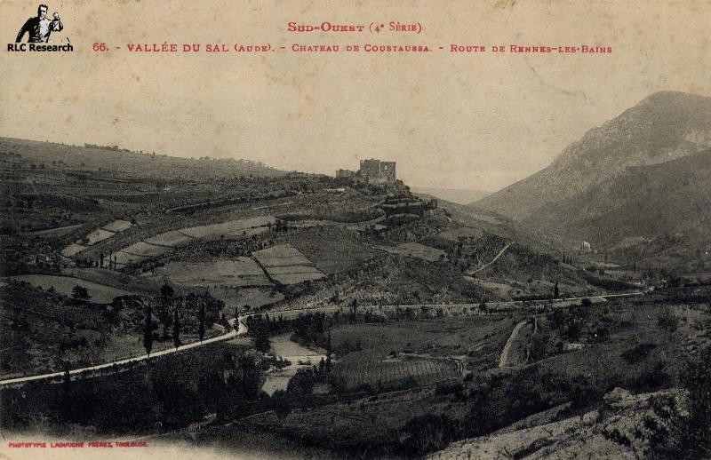 Old Postcard of Coustaussa