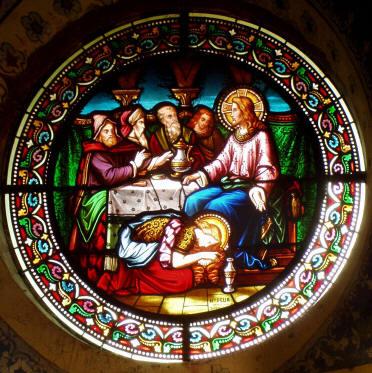 Mary Magdalene washing Jesus' feet