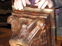 Antoine Captier, showing the concealed compartment in the Baluster