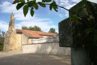 Tomb of Louis de Coma overlooking Baulou church