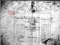 Martinist document with Emma Calvé's signature