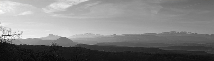 The Mountain tops figuring in the Mystery of Rennes-le-Château
