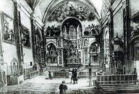 Engraving of Notre Dame de Marceille in 1850