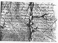 Fragment of one of the letters Saunière allegedly wrote to the model maker