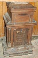 Saunière's oak collection box