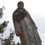 Statue of St. Vincent de Paul, overlooking the grounds of Notre-Dame de Marceille