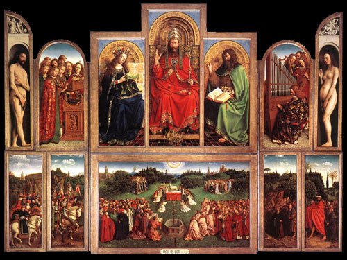 Ghent Altar Piece or Adoration of the Mystic Lamb by Jan van Eyck, 1432