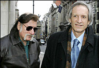 Richard Leigh and Michael Baigent on their way to the Dan Brown court case