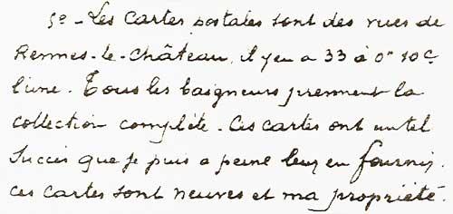 Saunière's desciption of his set of 33 cards