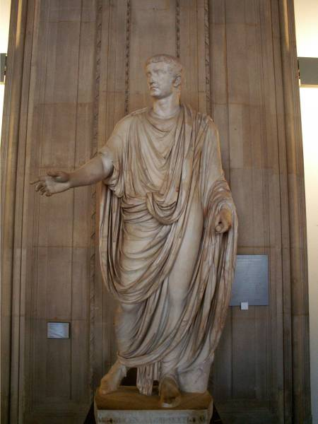 Statue of Emperor Tiberius, island of Capri