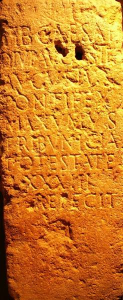 inscription found in the district of Saint Thibéry mentioning the name of Tiberius