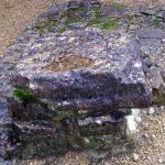 Stones marking the grave of Bernard de Montgaillard, Abbey of Orval