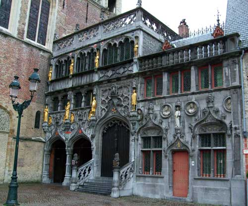 Entrance to the Basilica of the Holy Blood, Bruges