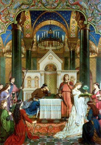 Perceval visiting the Grail castle (Ferdinand Piloty)